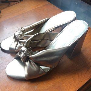 DV Dolce Vita gold mules sandals